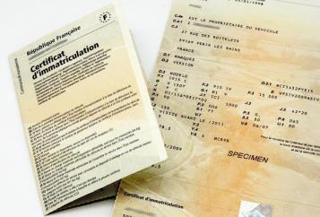 Carte grise – Certificat d'immatriculation